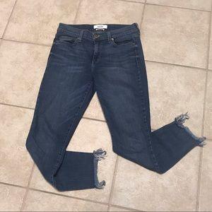 Pistola Stretch Skinny Jeans w/ Raw Hem Size 28